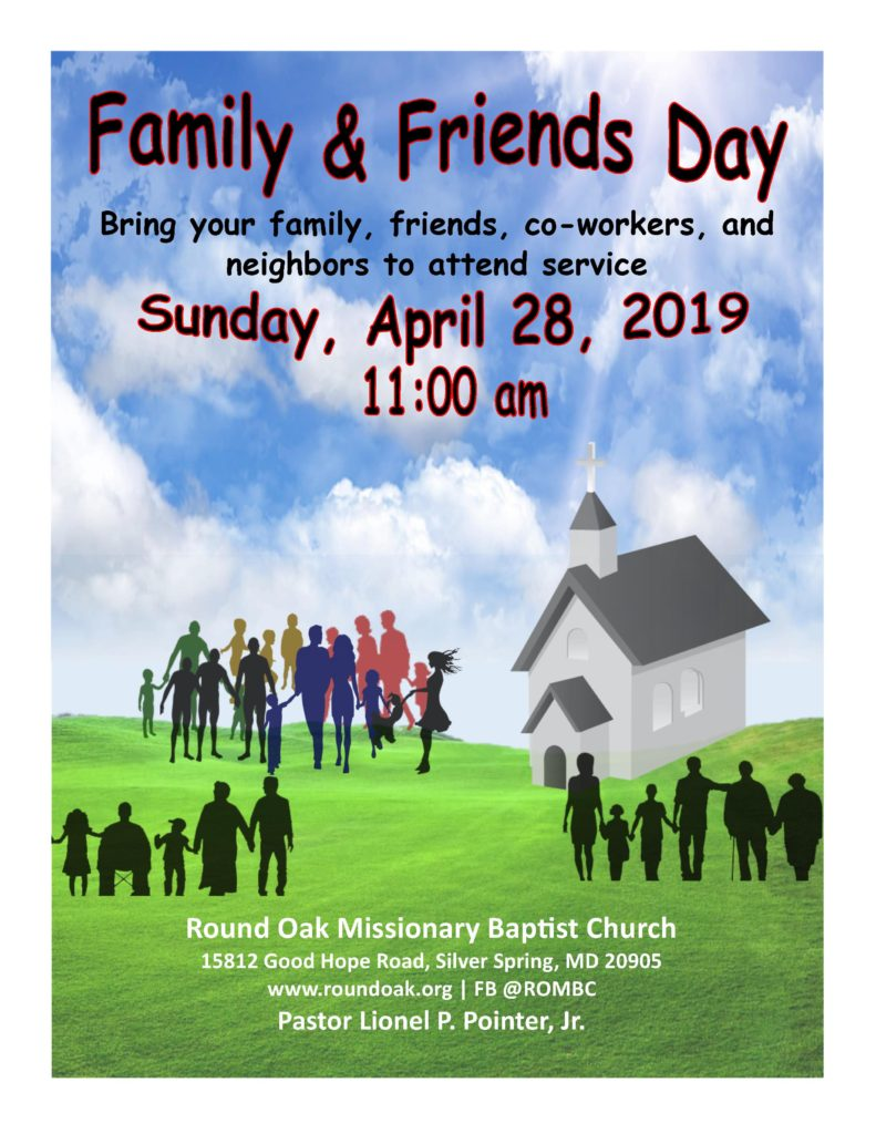 Friend and Family Day Flyer